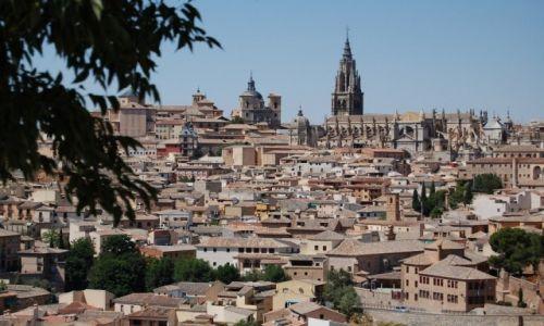 Zdjęcie HISZPANIA / Kastylia-La Mancha / Toledo / nad dachami