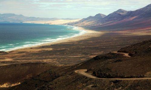 HISZPANIA / Fuerteventura/Wyspy Kanaryjskie / P�wysep Jandia / Droga na Cofete