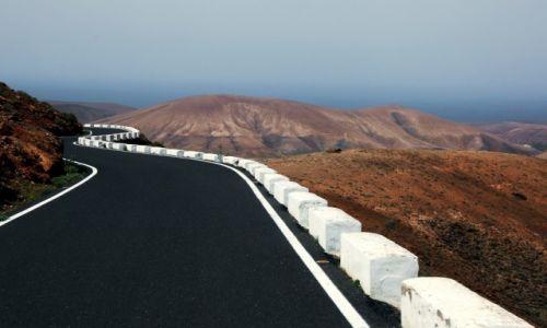 Zdjecie HISZPANIA / Fuerteventura/Wyspy Kanaryjskie / Droga do Pajara / Wielki słoń, tuż przy drodze