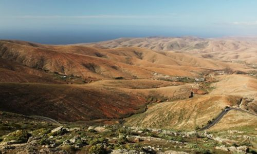 Zdjęcie HISZPANIA / Fuerteventura/Wyspy Kanaryjskie / Mirador Morro Velosa / Aż po błękit