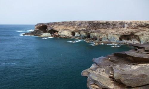 HISZPANIA / Fuerteventura/Wyspy Kanaryjskie / Ajuy / Czarna zatoka