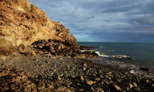 HISZPANIA / Fuerteventura/Wyspy Kanaryjskie / Gran Tarajal / Klif