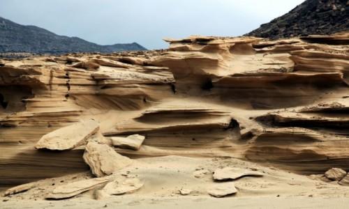 Zdjecie HISZPANIA / Fuerteventura/Wyspy Kanaryjskie / Półwysep Jandia/Cofete / Wietrzejące skały