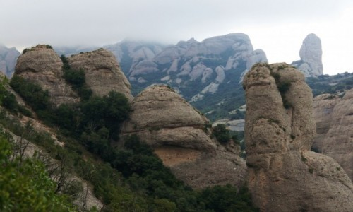 Zdjęcie HISZPANIA /  Katalonia / Montserrat  / Na szlaku