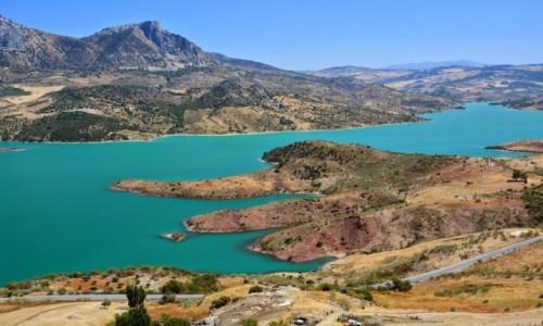 HISZPANIA / Andaluzja / Widok z Zahary / Zahara de la Sierra