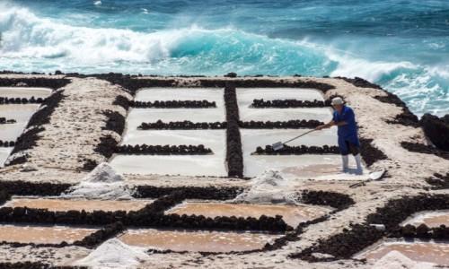 Zdjecie HISZPANIA / Wyspy Kanaryjskie / La Palma / Produkcja soli