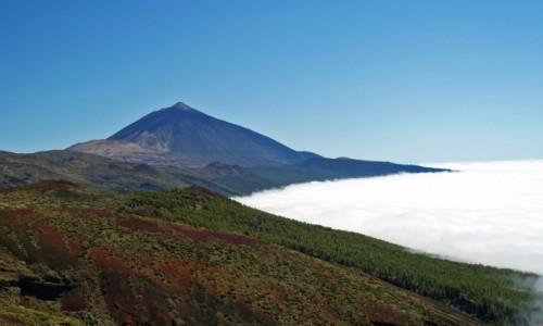 Zdjecie HISZPANIA / Teneryfa /  Park Narodowy del Teide / Teide ponad chm