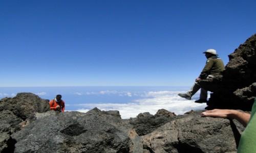 Zdjęcie HISZPANIA / Teneryfa / Szczyt El Teide / Ponad chmurami.