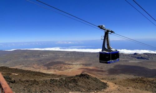 HISZPANIA / Wyspy Kanaryjskie / Teneryfa, Park Narodowy del Teide / Kolejka na szczyt wulkanu