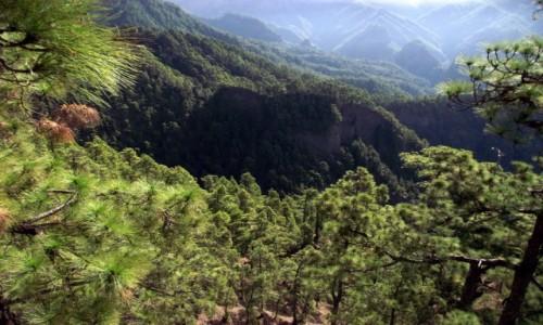 HISZPANIA / Wyspy Kanaryjskie / Wyspa La Palma / Poranek w Caldera de Taburiente