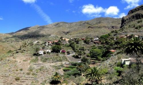 HISZPANIA / Wyspy Kanaryjskie, Teneryfa / Masca. / Widok na wieś Masca.
