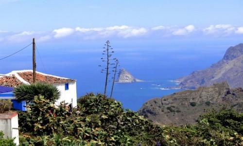 HISZPANIA / Wyspy Kanaryjskie, Teneryfa / Taborno. / Wieś Taborno górach Anaga.