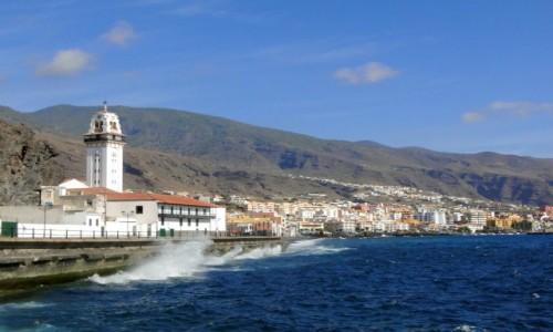 HISZPANIA / Wyspy Kanaryjskie, Teneryfa / Candelaria / Widok na miasto Candelaria.