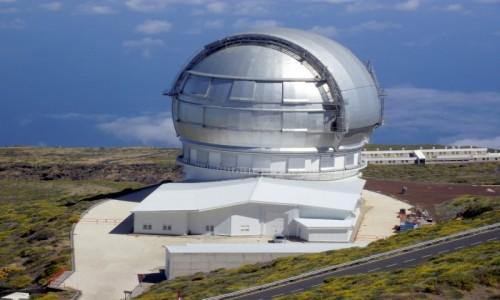 Zdjecie HISZPANIA / Wyspy Kanaryjskie / La Palma, Park Narodowy Caldera de Taburiente / Gran Telescopio Canarias