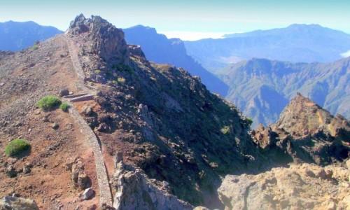 Zdjecie HISZPANIA / Wyspy Kanaryjskie / La Palma, Park Narodowy Caldera de Taburiente / Mirador Roque de los Muchachos
