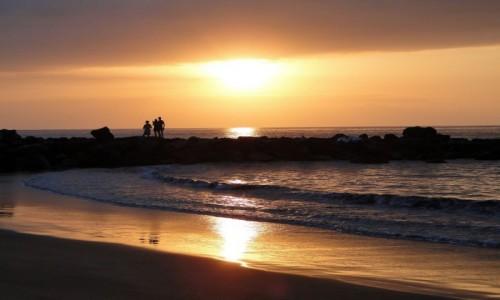 HISZPANIA / Wyspy Kanaryjskie, Teneryfa / Playa de las Americas / Wieczór nad oceanem.