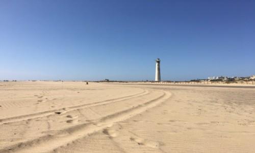 Zdjęcie HISZPANIA / Morro Jable / Fuerteventura / Latarnia w oddali