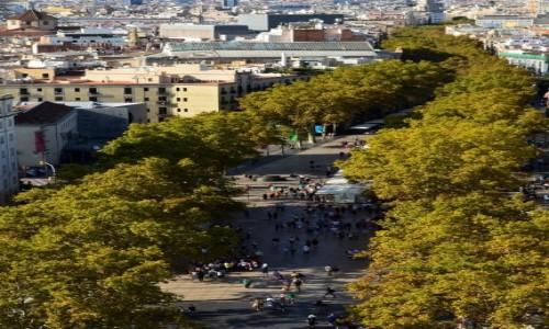Zdjecie HISZPANIA / Katalonia / Barcelona / Słynna ulica z innej perspektywy
