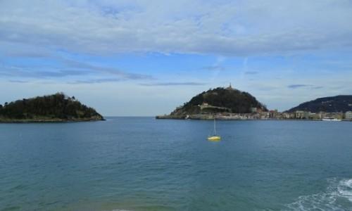Zdjęcie HISZPANIA / Kraj Basków / widok z plaży La Concha / San Sebastian
