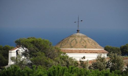 Zdjecie HISZPANIA / Katalonia / Lloret de Mar -Platja de Santa Cristina / Kaplica św. Christiny
