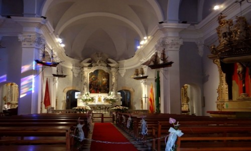 Zdjęcie HISZPANIA / Katalonia / Lloret de Mar -Platja de Santa Cristina / Kaplica św. Christiny