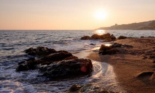 Zdjecie HISZPANIA / Katalonia / Calella / Zimowy zachód słońca na Costa Brava
