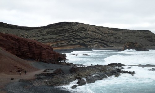 Zdjecie HISZPANIA / Lanzarote / charco verde / siła wulkanu
