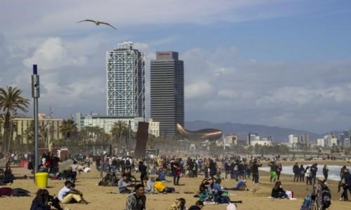 HISZPANIA / Katalonia / Barcelona / Plaża Barceloneta