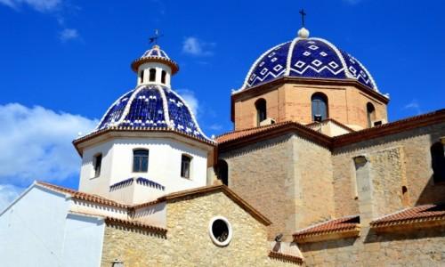 HISZPANIA / Costa Blanca / Altea / Na szczycie miasteczka