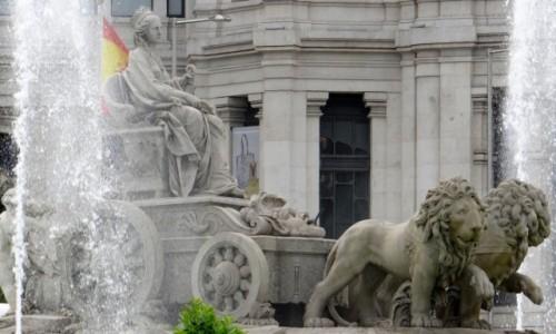 HISZPANIA / Madryt / Madryt / Fontanna na Plaza de Cibeles