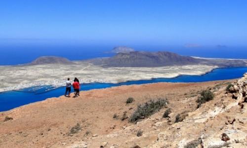 Zdjęcie HISZPANIA / Wyspy Kanaryjskie / Lanzarote / Rzut oka na wyspę La Graciosa.