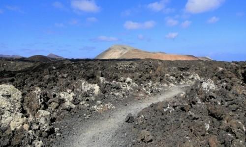 HISZPANIA / Wyspy Kanaryjskie / Lanzarote / Droga do Caldera Blanca.