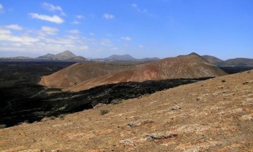 HISZPANIA / Wyspy Kanaryjskie / Lanzarote / Widok z Caldera Blanca.