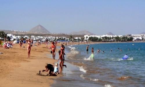 HISZPANIA / Wyspy Kanaryjskie / Lanzarote / Wspomnienie z Lanzarote - Playa de los Pocillos