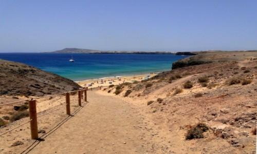 HISZPANIA / Wyspy Kanaryjskie / Lanzarote / Plaża Papagayo (1)