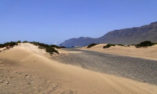 HISZPANIA / Wyspy Kanaryjskie / Lanzarote / Wydmy plaży Famara.