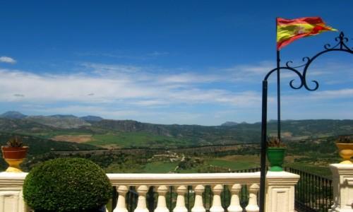 HISZPANIA / Andaluzja / Ronda / Taras z widokiem