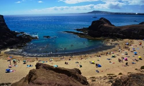 HISZPANIA / Wyspy Kanaryjskie / Lanzarote / plaże Papagayo