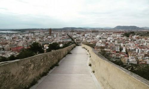HISZPANIA / costa blanca / Alicante / panorama miasta Alicant