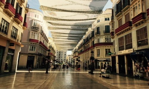 Zdjęcie HISZPANIA / Andaluzja / Malaga / Deptak Malaga