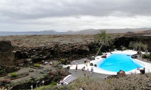 Zdjecie HISZPANIA / Wyspy Kanaryjskie / Lanzarote / Pochmurny dzień na Lanzarote.