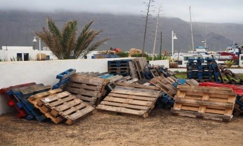 Zdjecie HISZPANIA / Wyspy Kanaryjskie / La Graciosa, Caleta del Sebo / Wioska rybacka