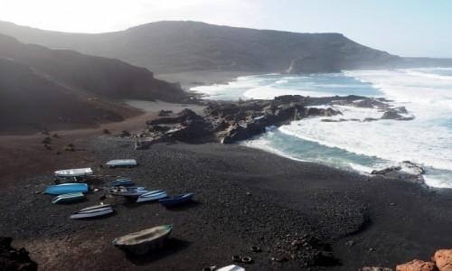 Zdjecie HISZPANIA / Wyspy Kanaryjskie / Lanzarote, El Golfo / Czarna zatoka