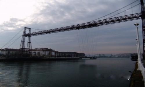 Zdjecie HISZPANIA / Bilbao / Rio de Bilbao / Most na linach