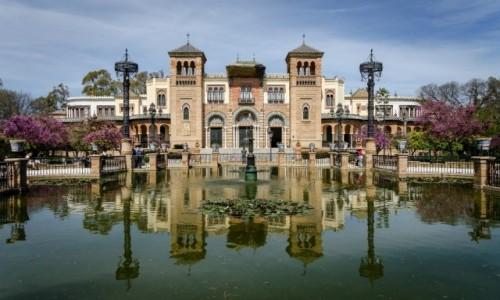 Zdjęcie HISZPANIA / Andaluzja / Sevilla / sadzawka......