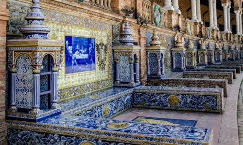 Zdjęcie HISZPANIA / Andaluzja / Sevilla / azulejos...