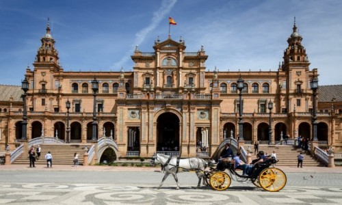 Zdjęcie HISZPANIA / Andaluzja / Sevilla / wcale nie zaczarowana dorożka...