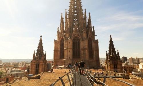 Zdjecie HISZPANIA / - / Barcelona / Na dachu katedry św. Eulalii
