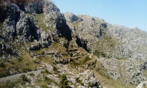 Zdjecie HISZPANIA / Mallorca / Droga do Sa Calobra / serpentyna