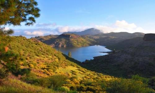 Zdjęcie HISZPANIA / Gran Canaria / Parque Rural del Nublo / Widok na Embalse de la Cueva